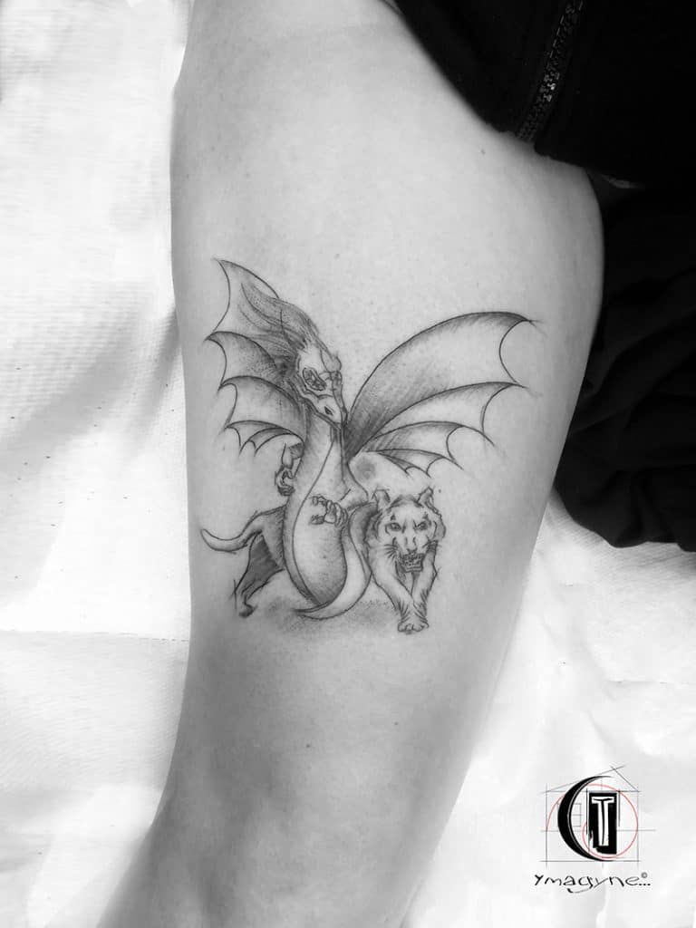 Tattoo Dragon tigre